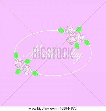 Mother's day with roses on pink background