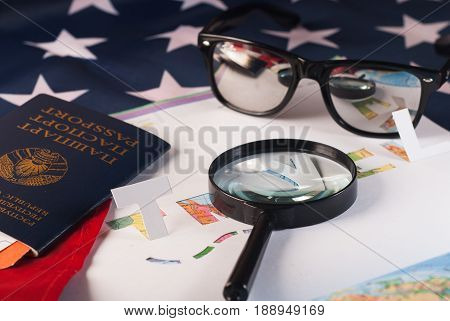 Map And Magnifier, Journey Planning,