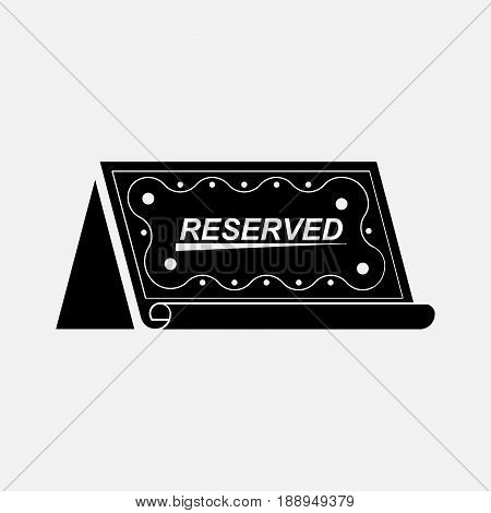 Icon table booked reservation reserve a table the icon for restaurants cafes fully editable vector image