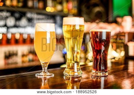 The Beer Assortment In Pub