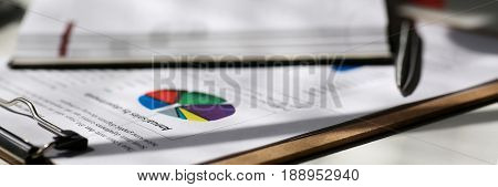 Financial Statistics Documents On Clipboard Pad