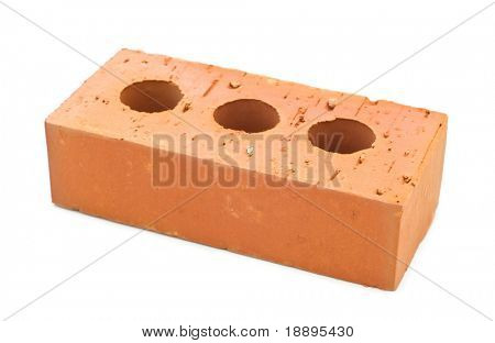 Building brick on white background