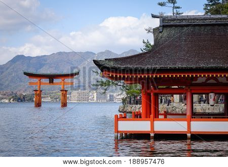 Itsukushima Shrine In Hiroshima, Japan