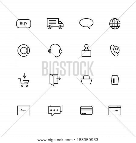 Simple set of online shopping icons. Icons for web and mobile interfaces.