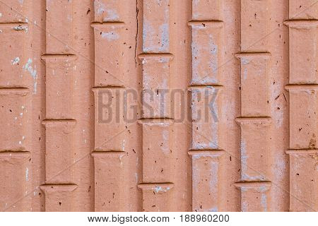 Red brick texture close up detailed copy space brick wall background