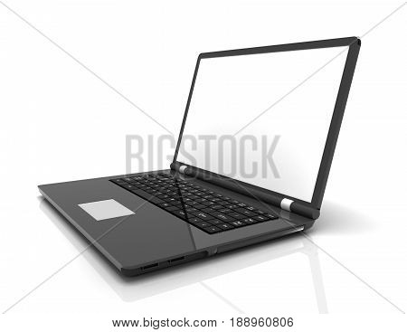 laptop notebook ultrabook isolated . rendered illustration