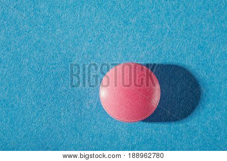 Medical Pills Round Shape With Expressive Shadows