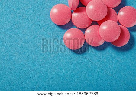 Medical Pills Of Round Shape And Pink Color