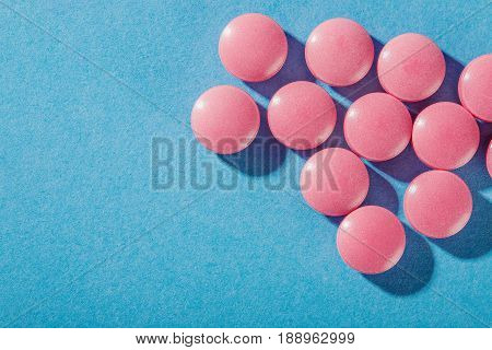 Medical Pills Of Round Shape And Light Color