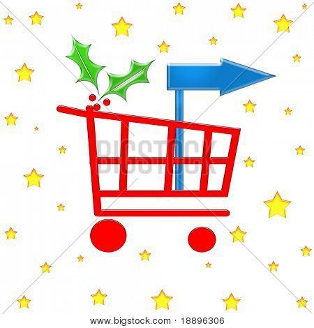 Christmas checkout shopping cart