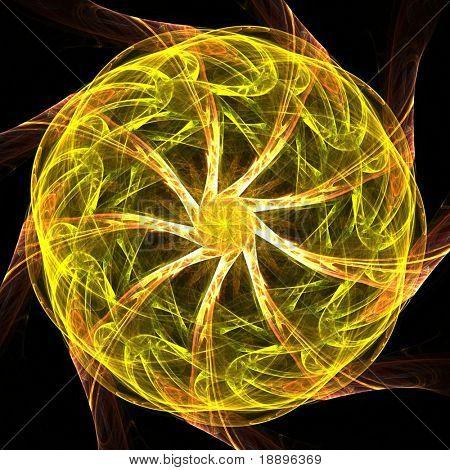 Spiral fractal mandala