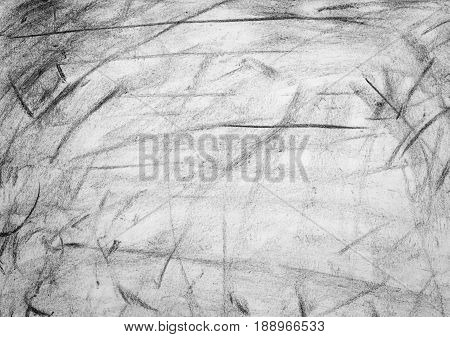 Pencil grunge black and white texture or background