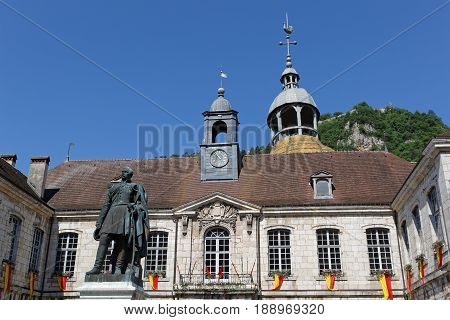 The Hotel De Ville Of Salins-les-bains Dates From The 18Th Century.