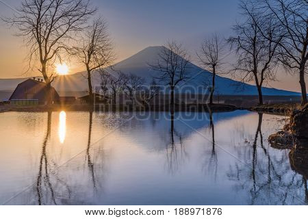 Fumotoppara Campground In The Morning With Mt. Fuji