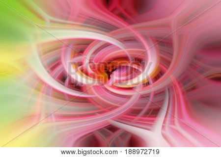 Delicate soft pastel shades of pink and white intertwine in a digitally created abstract image.
