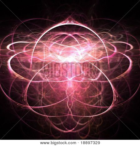 Fractal abstract of symmetrical spiritual light