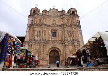 Santo Domingo Church in San Cristobal de las Casas, Chiapas, Mexico