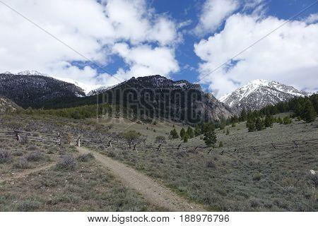 Trail to Climb Mt. Borah, Idaho's tallest peak, (at 12,662 ft (3,859 m).