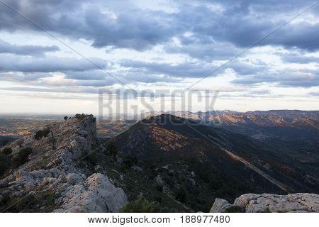 Sunset on the peak of La Picosa