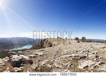 On the top of La Caixa. Beceite. Teruel province