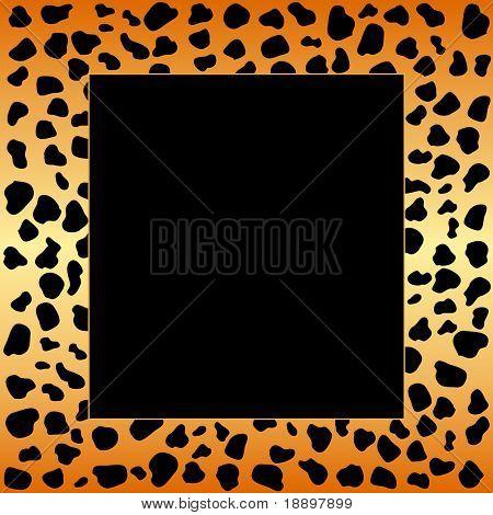 Cheetah spots frame poster