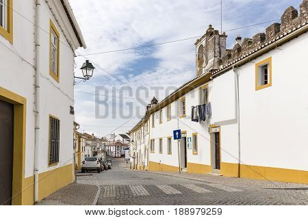 a street in Monforte town, District of Portalegre, Portugal
