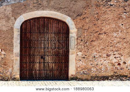 Old gates of medieval building