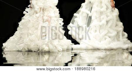 Fashion Show Runway Beautiful Wedding Dresses