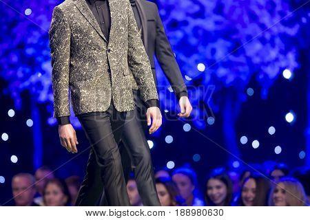 Fashion Show Runway Beautiful Men Models