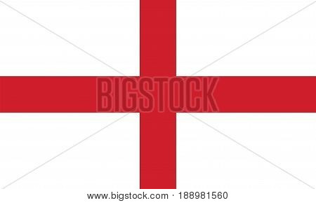 Flag of England, vector illustration official symbol of the state