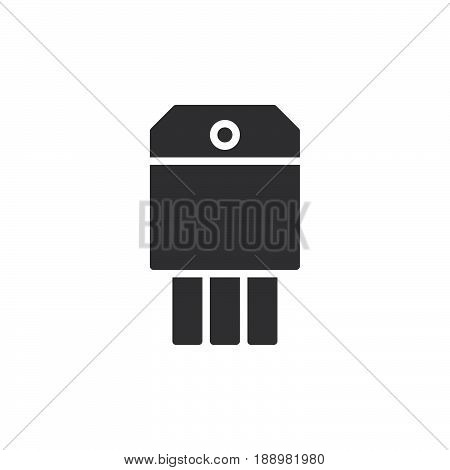 Transistor icon vector filled flat sign solid pictogram isolated on white. Symbol logo illustration. Pixel perfect