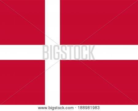 Denmark flag, vector illustration official symbol of the state