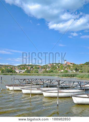 popular Village of Tihany at Lake Balaton,Hungary