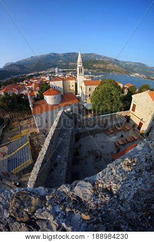 View of old town Budva, Montenegro.