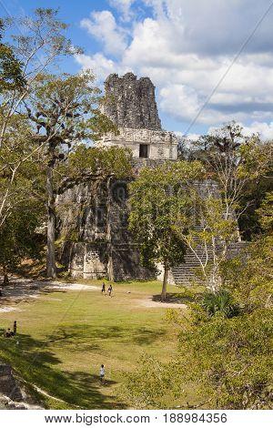 Gran Plaza  In Tikal Guatamala