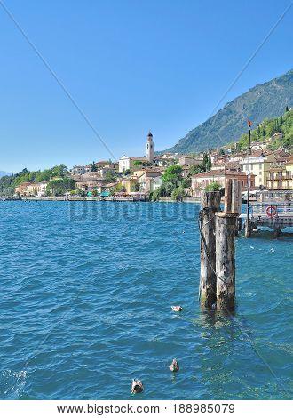 Village of Limone sul Garda at Lake Garda,italian Lakes,Italy