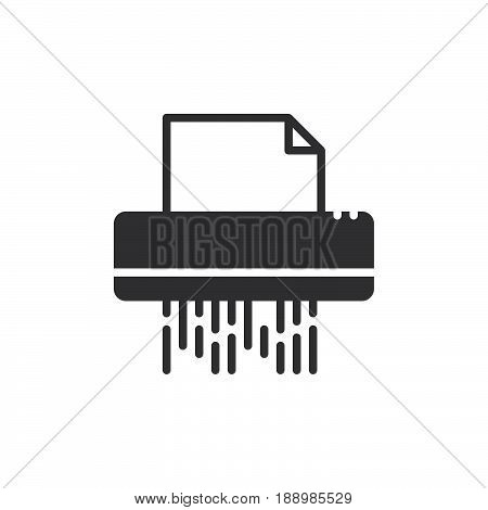 Documents shredder icon vector filled flat sign solid pictogram isolated on white. Symbol logo illustration. Pixel perfect
