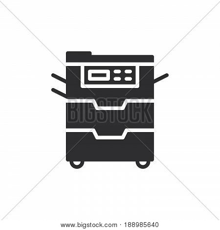 Copy machine icon vector filled flat sign solid pictogram isolated on white. Document copier symbol logo illustration. Pixel perfect