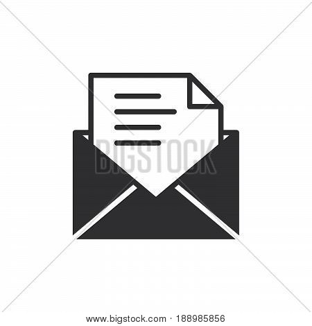 Email message icon vector filled flat sign solid pictogram isolated on white. Symbol logo illustration. Pixel perfect