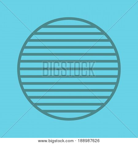 Whole symbol color linear icon. Sliced circle. Thin line contour symbols on color background. Vector illustration
