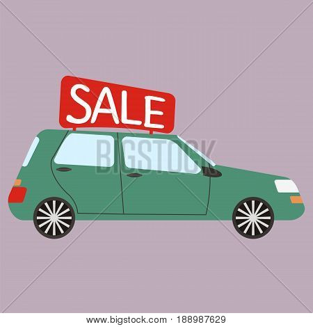 Car for rent. Buying or rent car. Vector