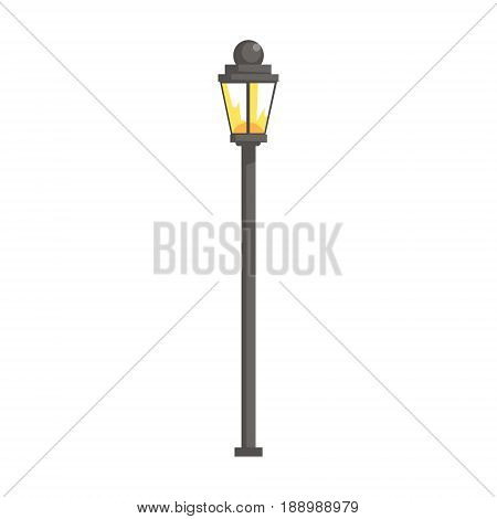 Vintage streetlight vector Illustration isolated on a white background