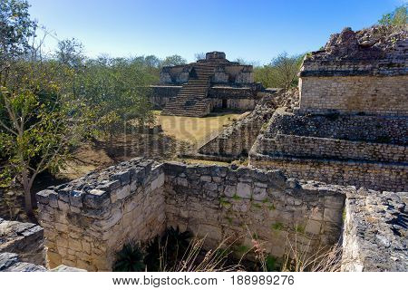 Ruins of the ancient Mayan city of Ek Balam near Valladolid Mexico