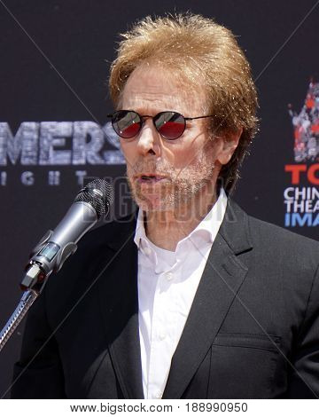 LOS ANGELES - MAY 23:  Jerry Bruckheimer at the Michael Bay Hand And Footprint Ceremony at the TCL Chinese Theater IMAX on May 23, 2017 in Los Angeles, CA