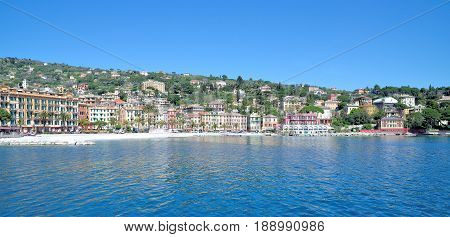 Santa Margherita Ligure at italian Riviera near Portofino,Liguria,Italy