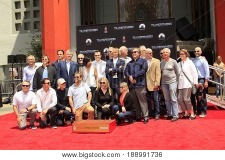 LOS ANGELES - MAY 23:  Michael Bay, Crew at the Michael Bay Hand And Footprint Ceremony at the TCL Chinese Theater IMAX on May 23, 2017 in Los Angeles, CA