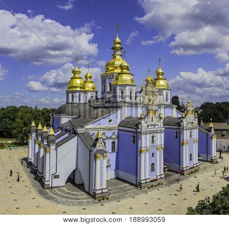 Saint Michael's Golden-Domed Cathedral in Kyiv, Ukraine.