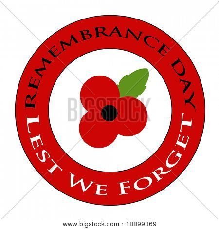Red poppy Remembrance day design