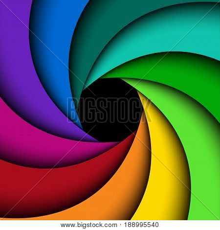 Colorful shutter aperture background abstract vector illustration