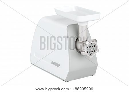 Electric meat grinder 3D rendering isolated on white background